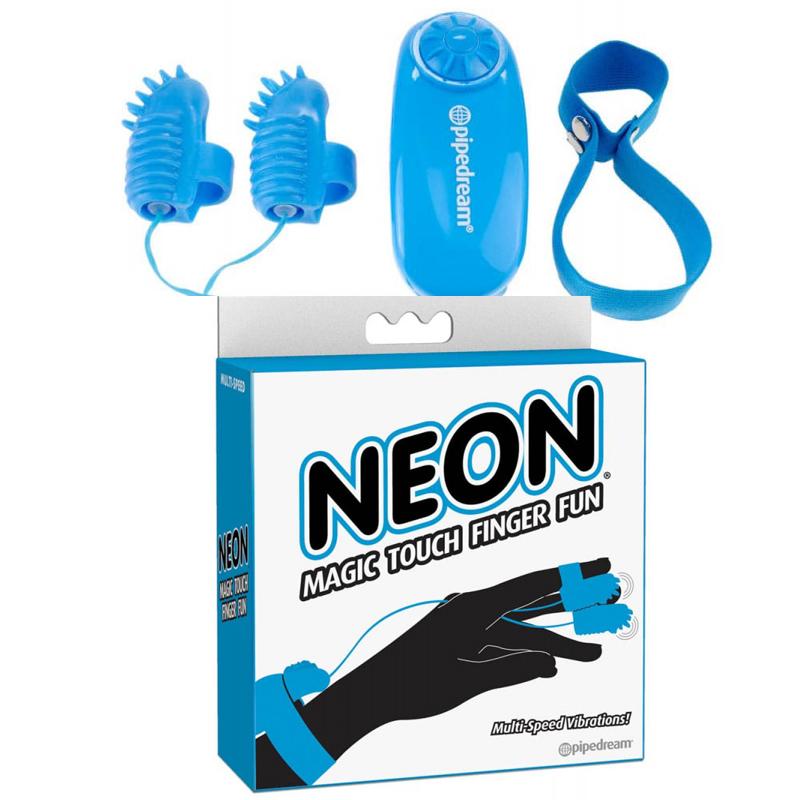 Вибро пръсти, магическо докосване в син цвят – Neon Magic Touch Finger Fun