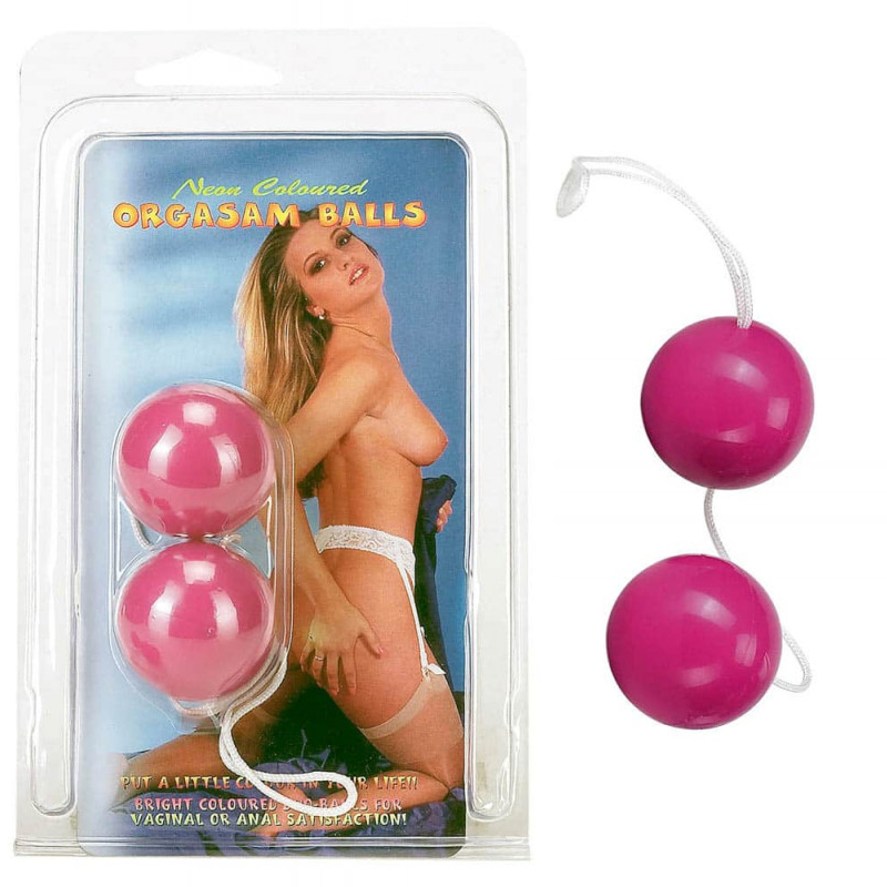 Анално-вагинални топчета с вътрешни тежести – Orgasm Balls Purple