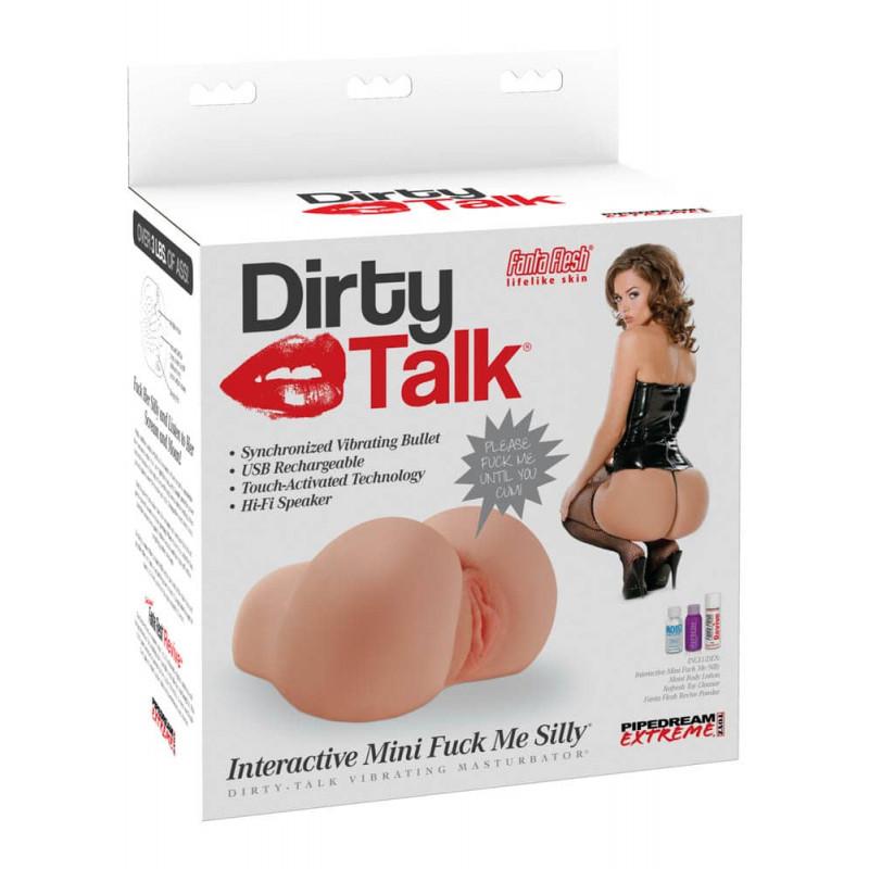 Мини интерактивен мастурбатор с вибрации и секси глас, мръсни думи – Dirty Talk Interactive Fuck Me Silly