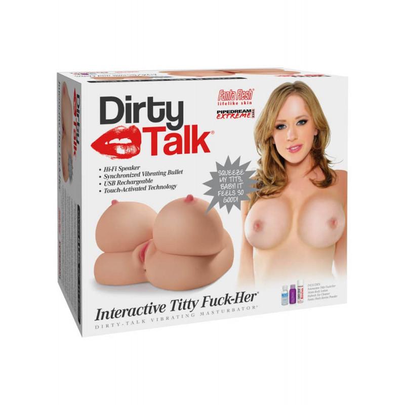 Интерактивен мастурбатор с гърди, вибрации и секси глас, мръсни думи – Dirty Talk  Interactive Titty Fuck-Her