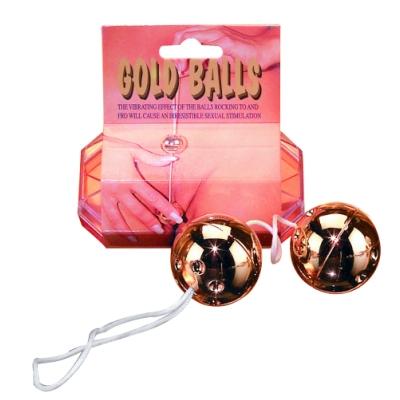 Анално-вагинални топчета, златно изкушение – Plastic Balls, Gold