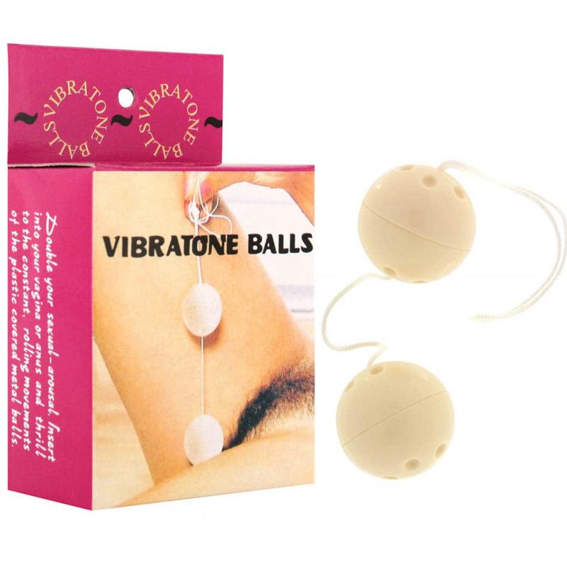 Анално-вагинални топчета, слонова кост – Plastic Balls, Ivory