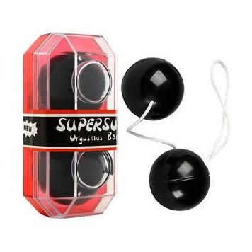Анално-вагинални топчета в черен цвят – PVC Duotone Balls Black