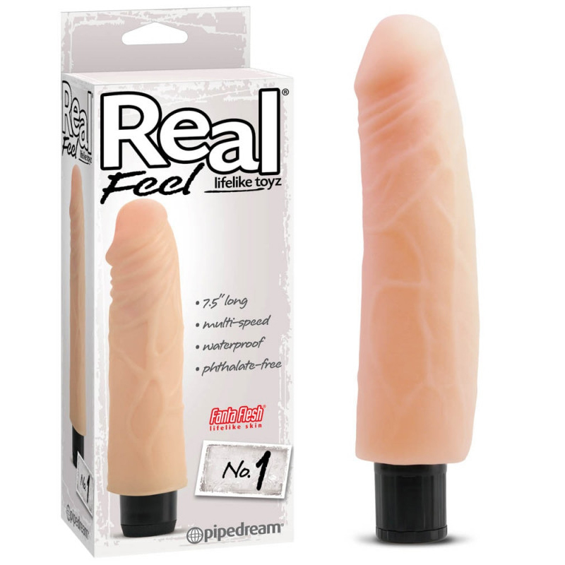 Вибратор, реалистично усещане, 19,1см. – Real Feel Lifelike №1