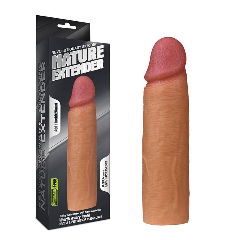 Пенис удължител от силикон, революционен 16,5см. – Nature Extender
