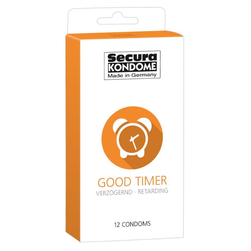 Презервативи със задържащ ефект, 12 броя – Secura Good Timer