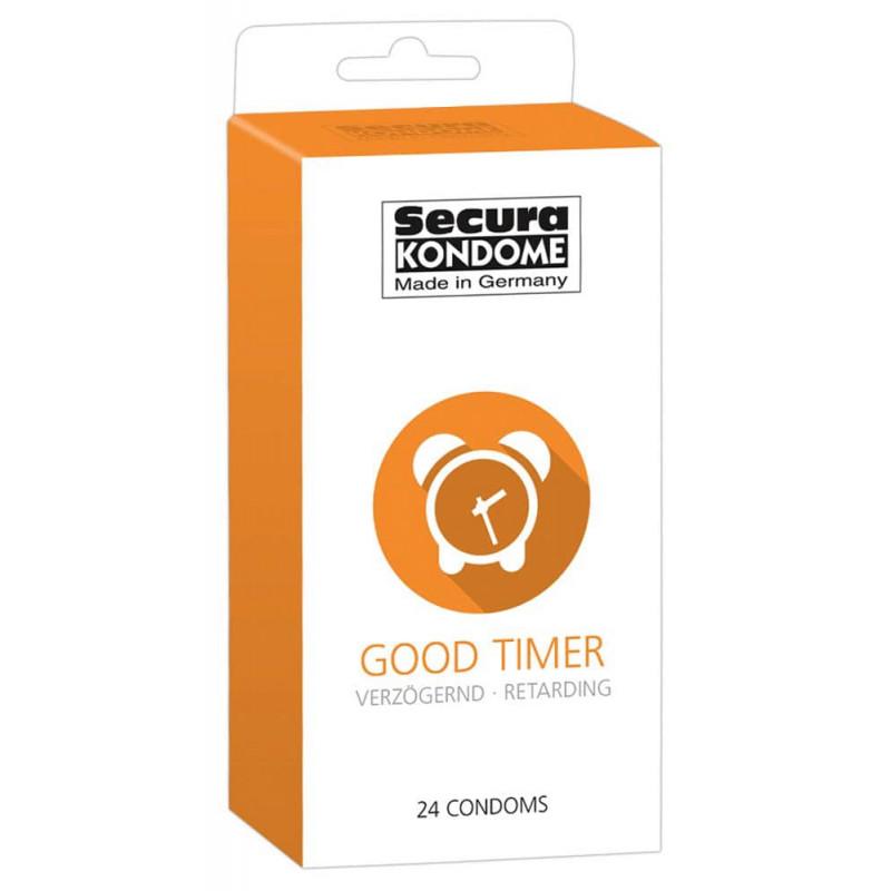 Презервативи със задържащ ефект 24 броя – Secura Good Timer 24 pcs