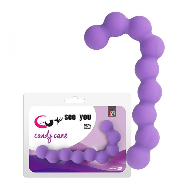 Анална броеница, захарно бастунче, 13,1см. – Candy Cane Anal Beads