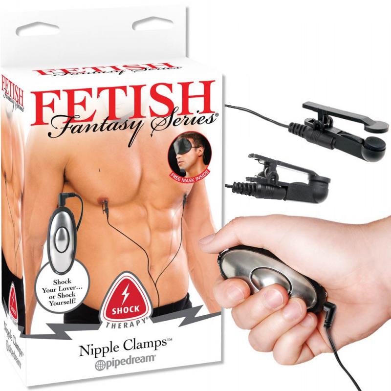 Електрически скоби за зърна, шокова терапия – Shock Therapy Nipple Clamps