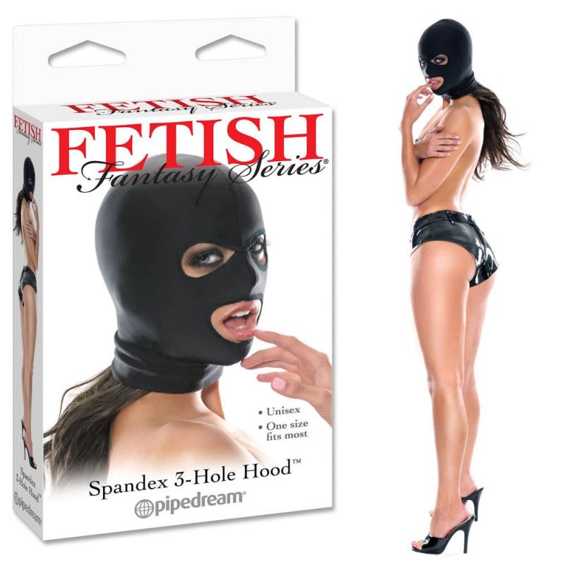 Фетиш маска за лице – Spandex 3 Hole Hood
