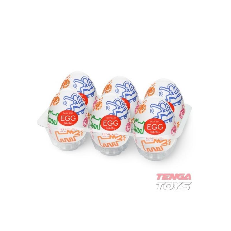 Мастурбатор яйце, почувствайте улицата – Keith Haring Egg Street