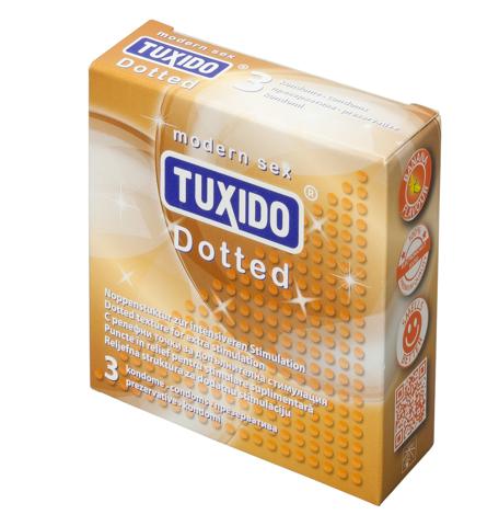 Презервативи с релефна повърхност, 3 броя – Tuxido Dotted