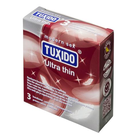 Презервативи, ултра тънки 3 броя – Tuxido Ultra Thin