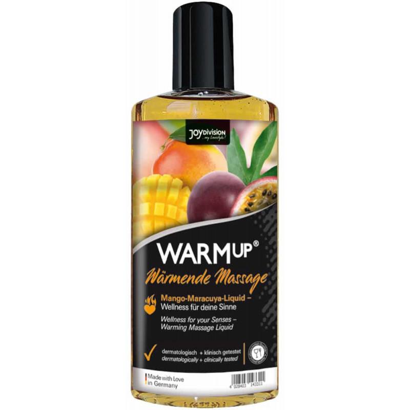 Ядливо масажно олио със затоплящ ефект, манго и маракуя – WARMup 150ml