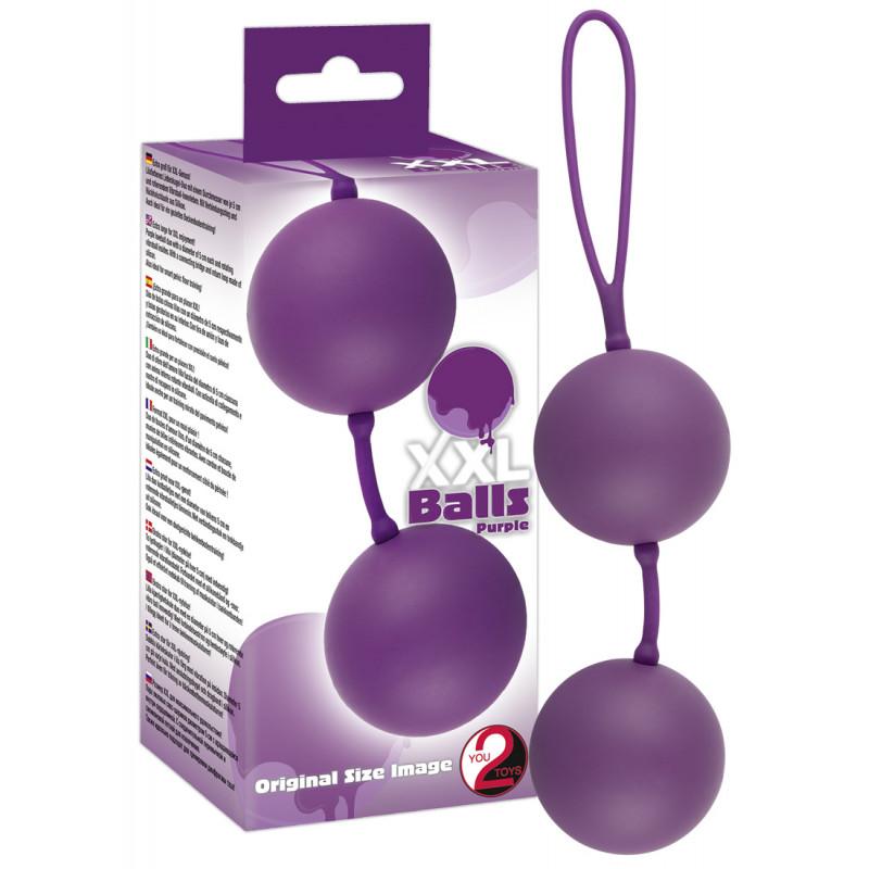 Анално-вагинални топчета, лилави – XXL Balls