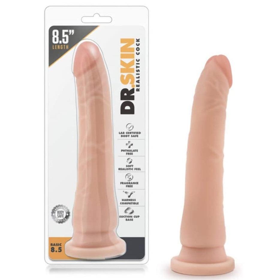 Пенис дилдо с вакуум основа, 21,6см. – Mr. Skin Realistic Cock Basic