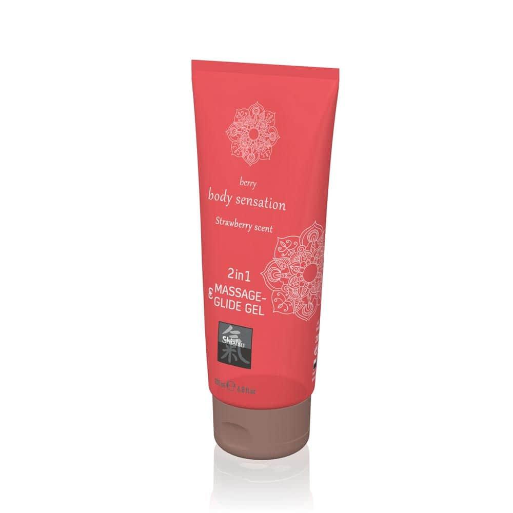 Massage- & Glide Gel 2 in 1 - Strawberry scent