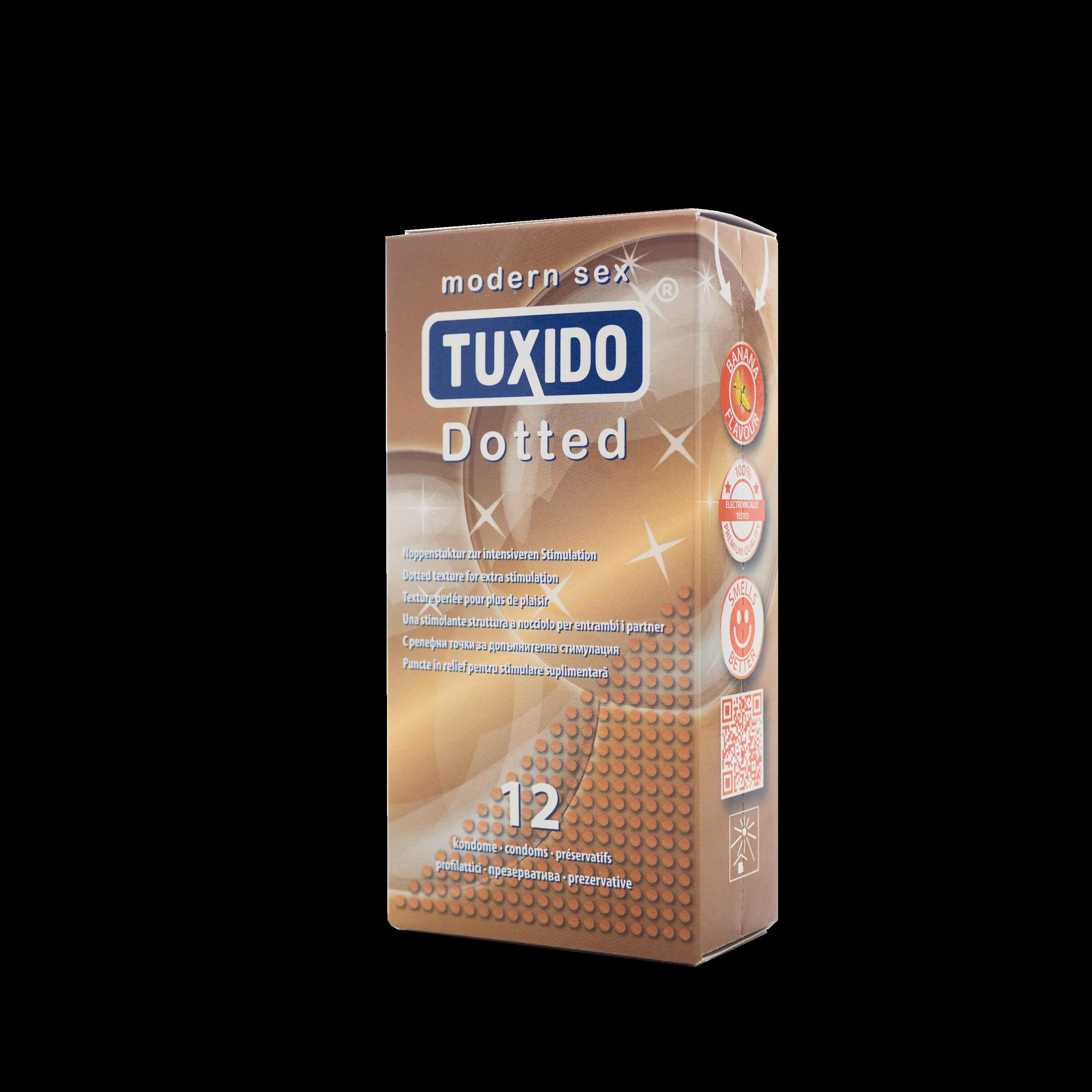 Презервативи с релефна повърхност 12 броя – Tuxido Dotted