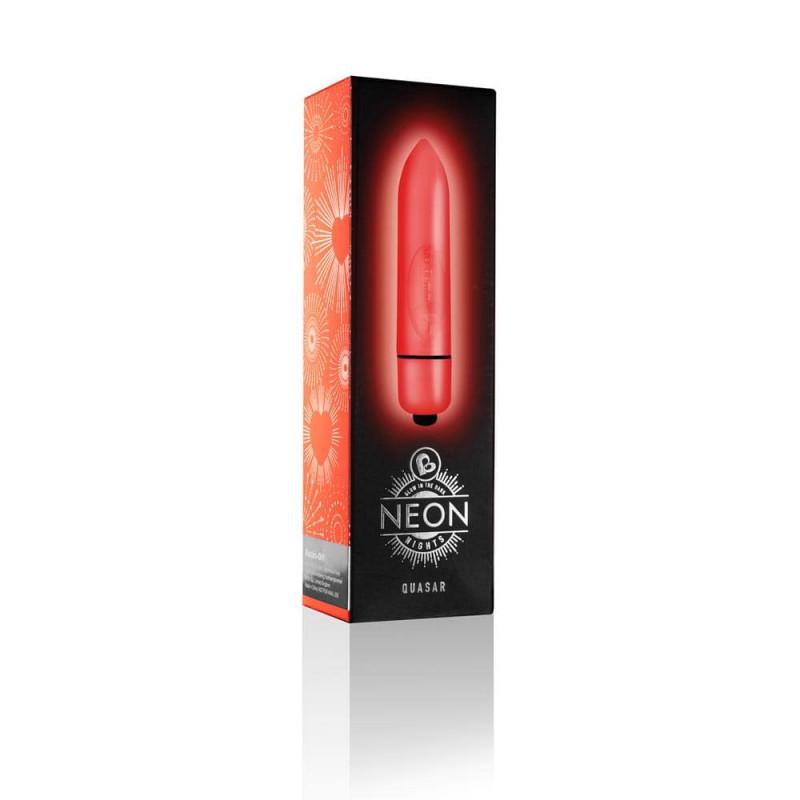 Мини вибратор в червено, неонови нощи – Neon Nights Quasar
