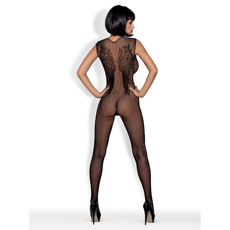 Целокупно боди с интимен отвор – Bodystocking N112 XL/XXL