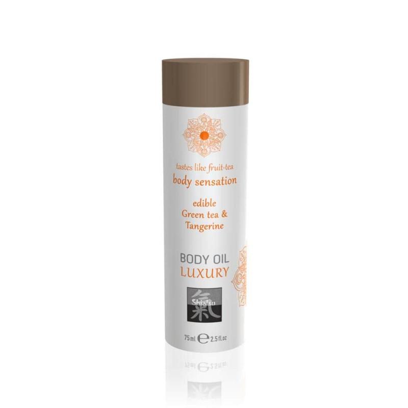 Афродизиак олио за тяло, зелен чай и мандарина – Luxury body oil edible 75ml