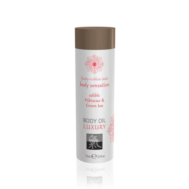 Афродизиак олио за тяло, хибискус и зелен чай – Luxury body oil edible 75ml
