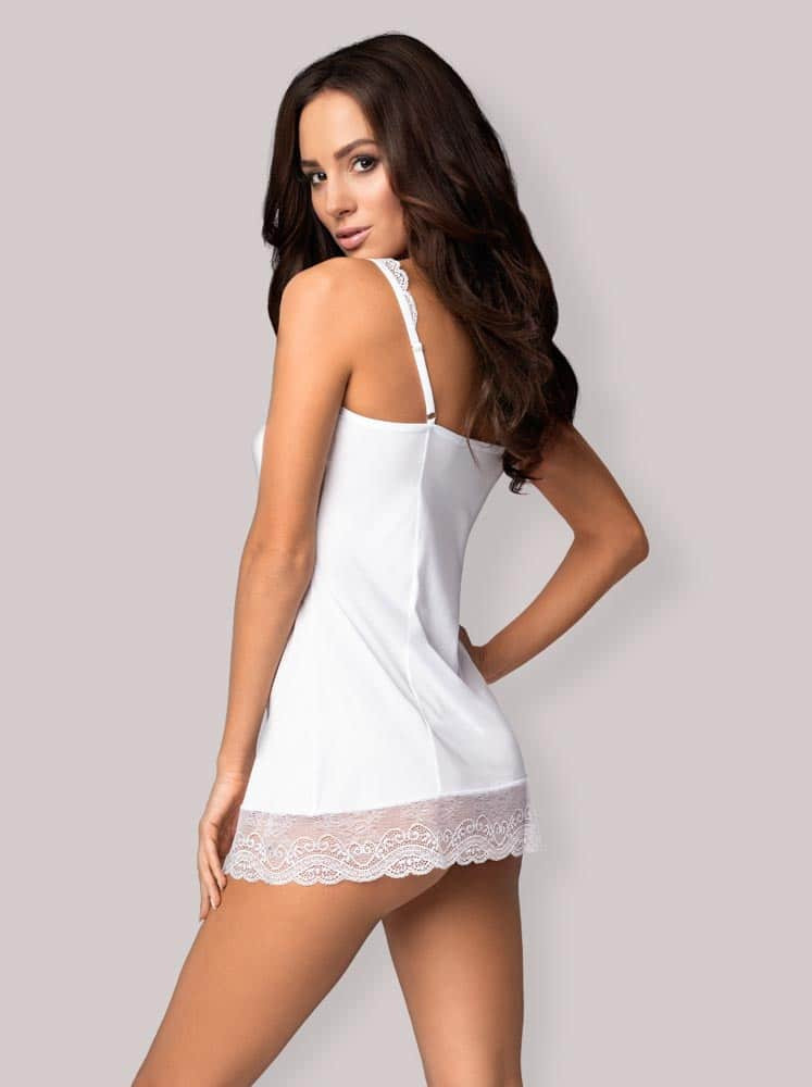 Miamor chemise & thong white L/XL