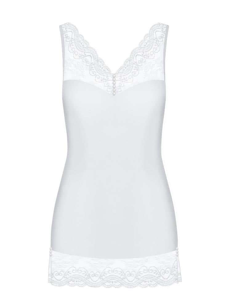 Miamor chemise & thong white  S/M