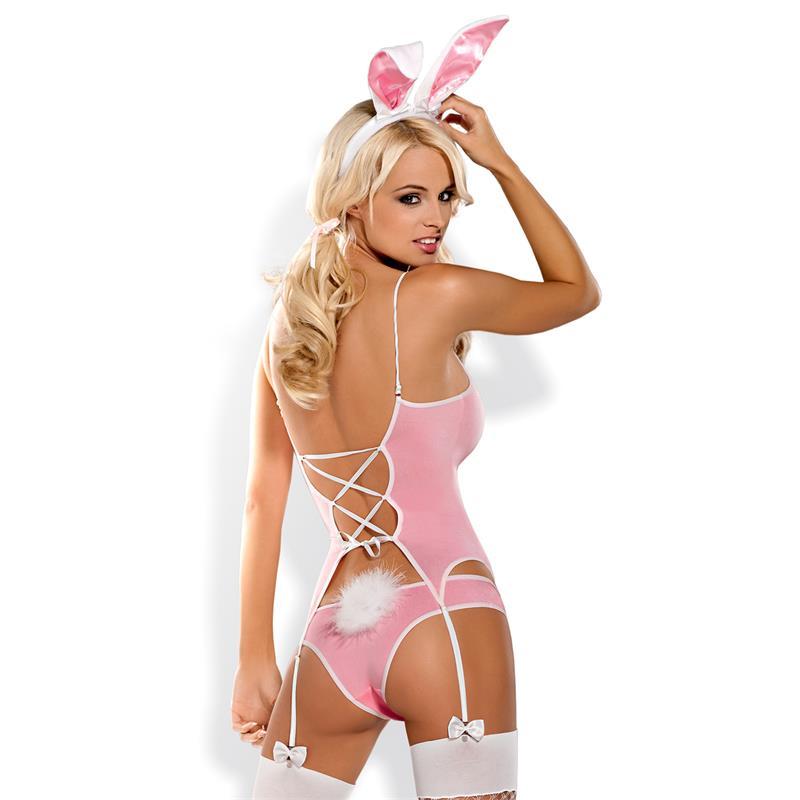 Еротичен костюм, палавото зайче – Bunny suit pink L/XL