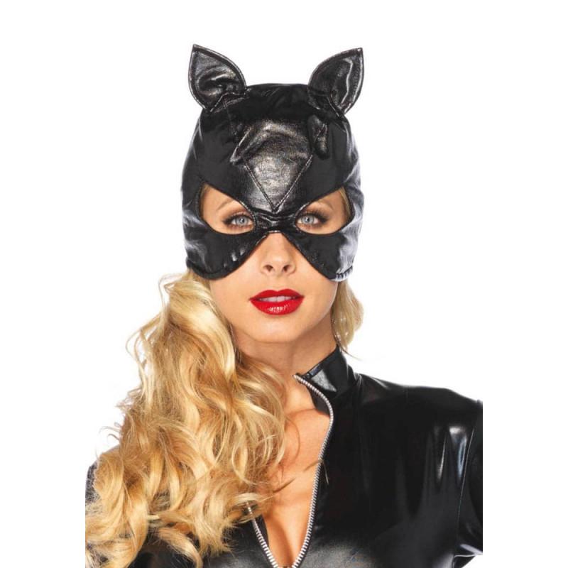 Котешка маска от изкуствена кожа – Faux Leather Cat Mask
