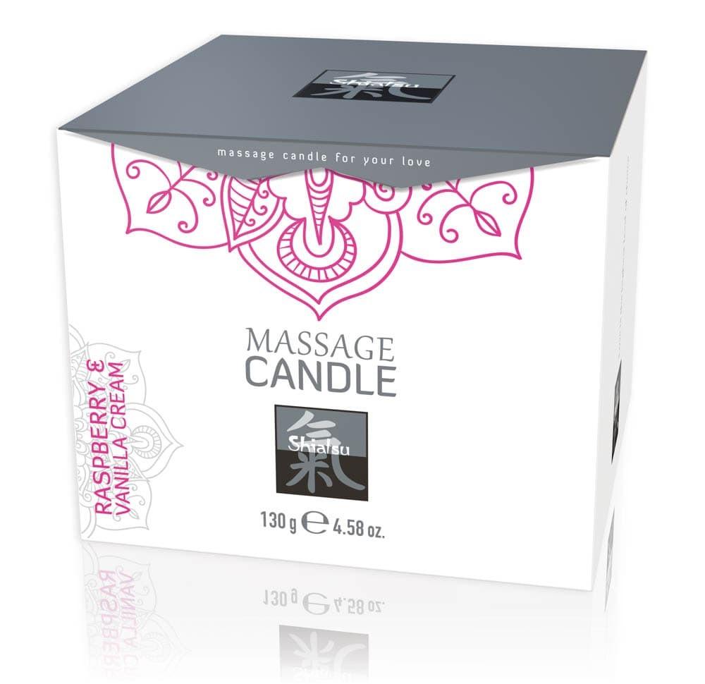 Масажна свещ, аромат на малини и ванилия – Massage Candle Raspberry & Vanilla 130g