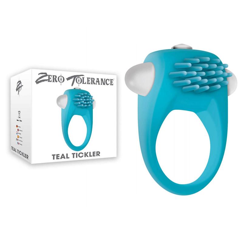 Пенис пръстен, елегантен и вибриращ – Teal Tickler