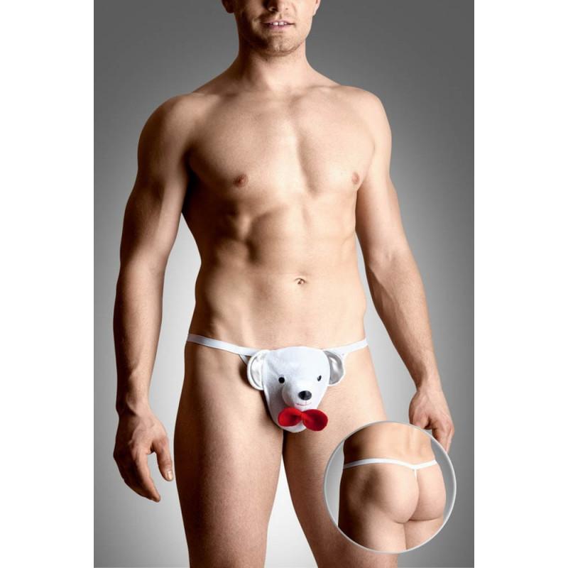 Мъжки прашки, бяла мечка – Mens Thongs 4492