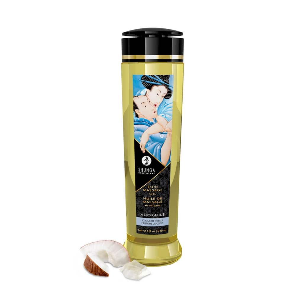 EROTIC MASSAGE OIL 240 ml / 8 oz COCONUT THRILLS