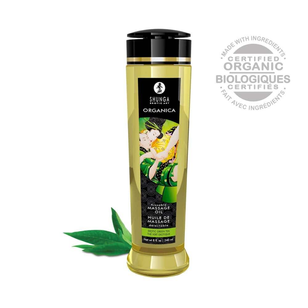 MASSAGE OIL ORGANICA 240 ml / 8 oz GREEN TEA