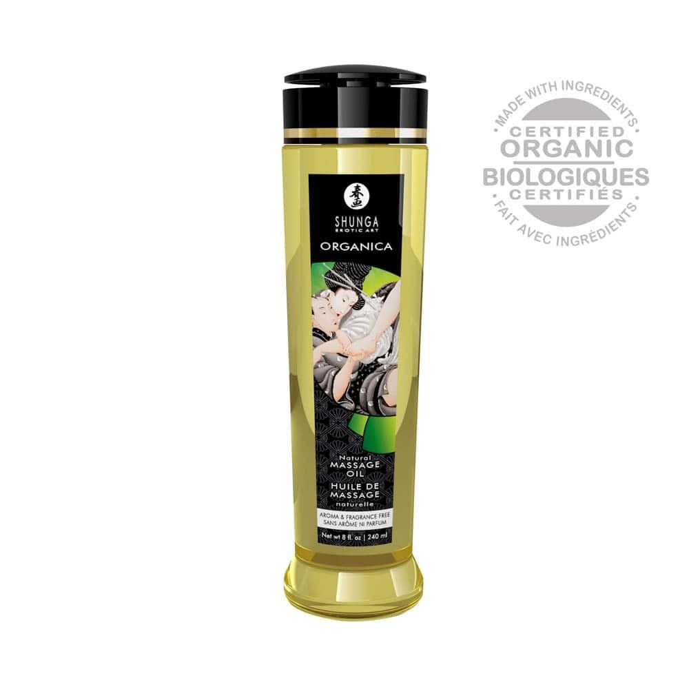 MASSAGE OIL ORGANICA 240 ml / 8 oz NATURAL