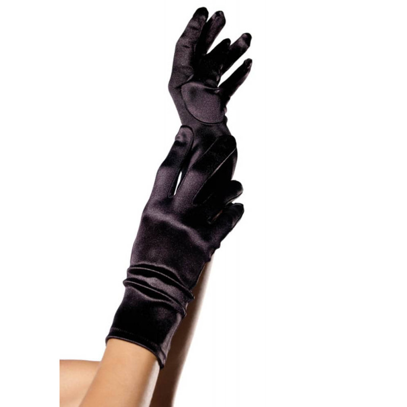 Сатенени ръкавици, черни – Satin Gloves