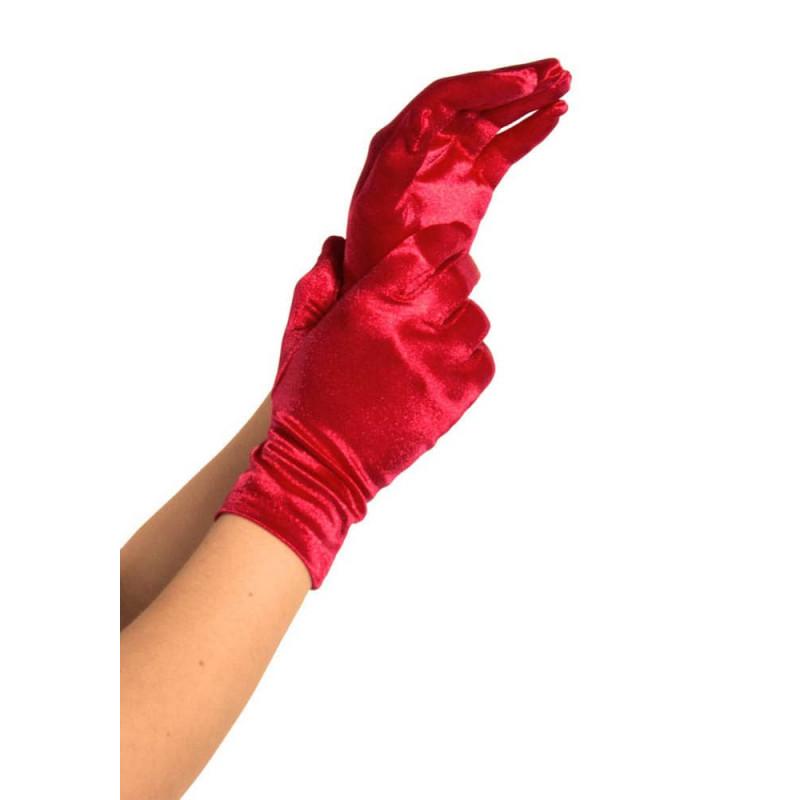 Сатенени ръкавици, червени – Satin Gloves