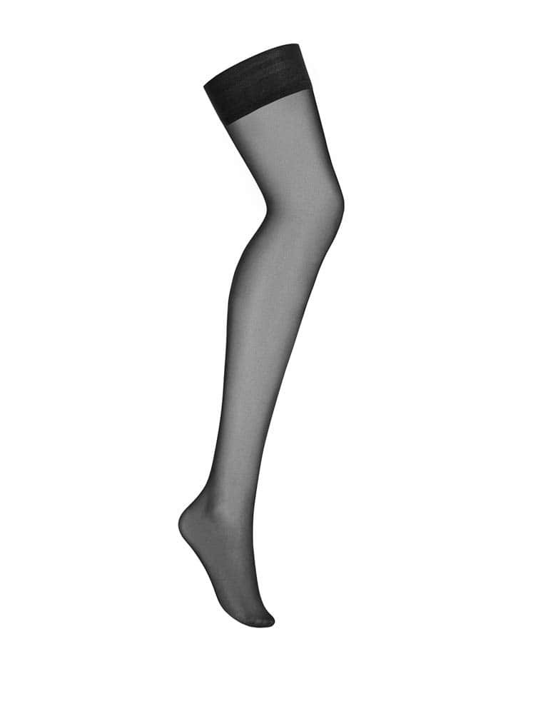 Cheetia self-supported stockings black  S/M