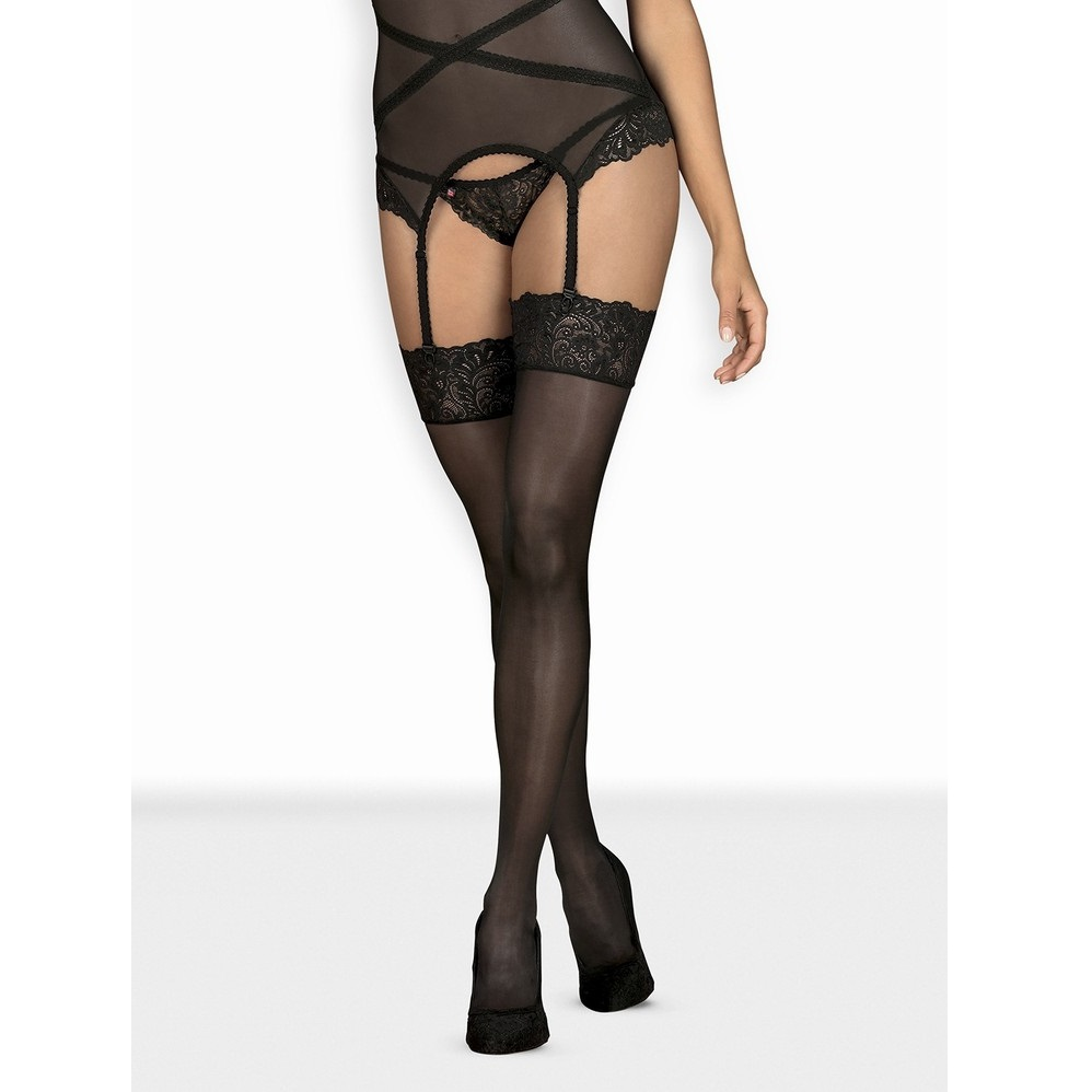 Елегантни дамски чорапи с дантела – Bondea stockings S/M