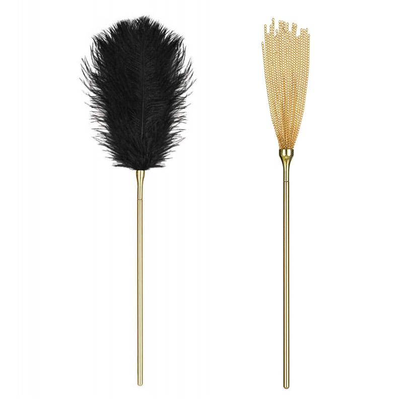 Камшик и гъделичкащо перо, златно съвършенство – A754 crop