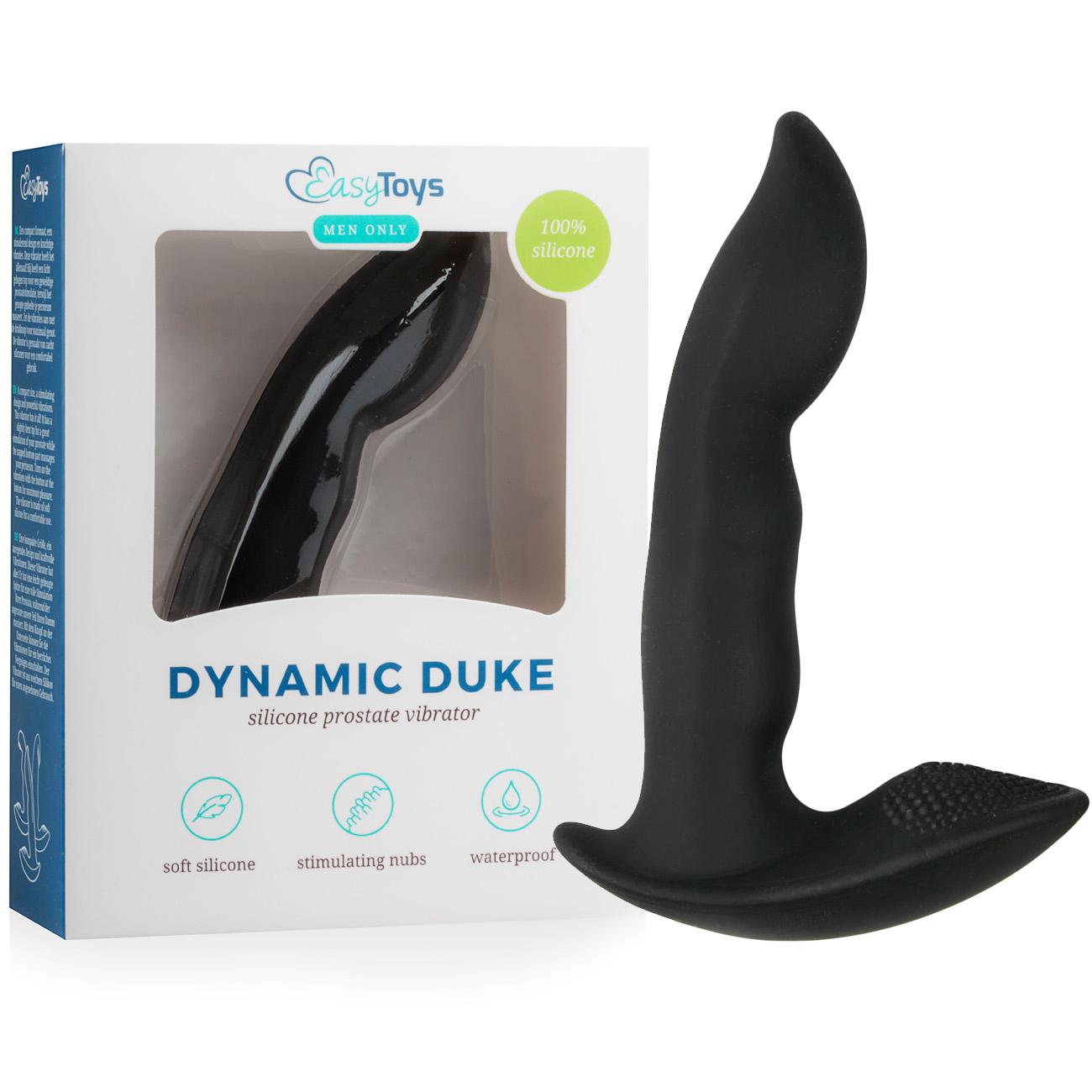 Вибриращ простатен стимулатор от силикон, 12см. – Dynamic Duke