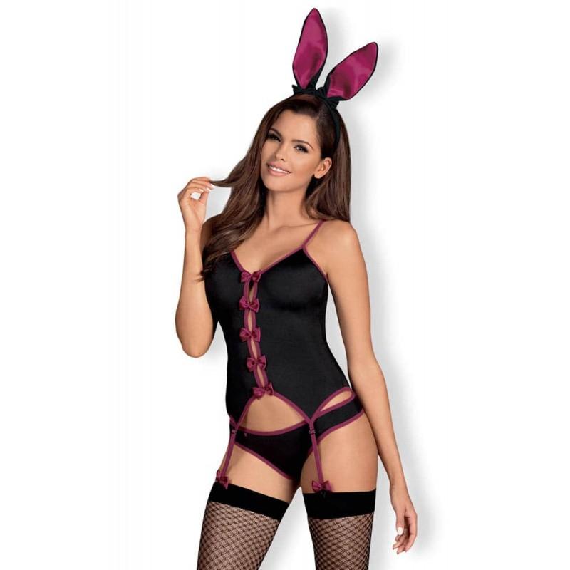 Еротичен костюм, палавото зайче – Bunny suit black S/M