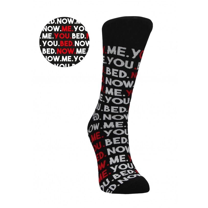 Секси чорапи с палаво послание – You.Me.Bed.Now. 42-46