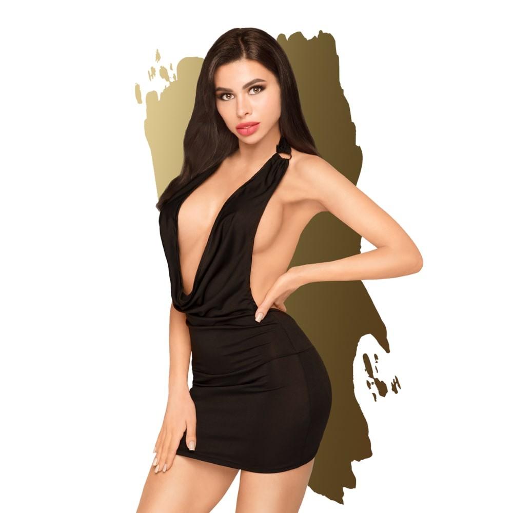 Сет, мини рокля с дълбоко деколте и прашки – Heart Rob M/L
