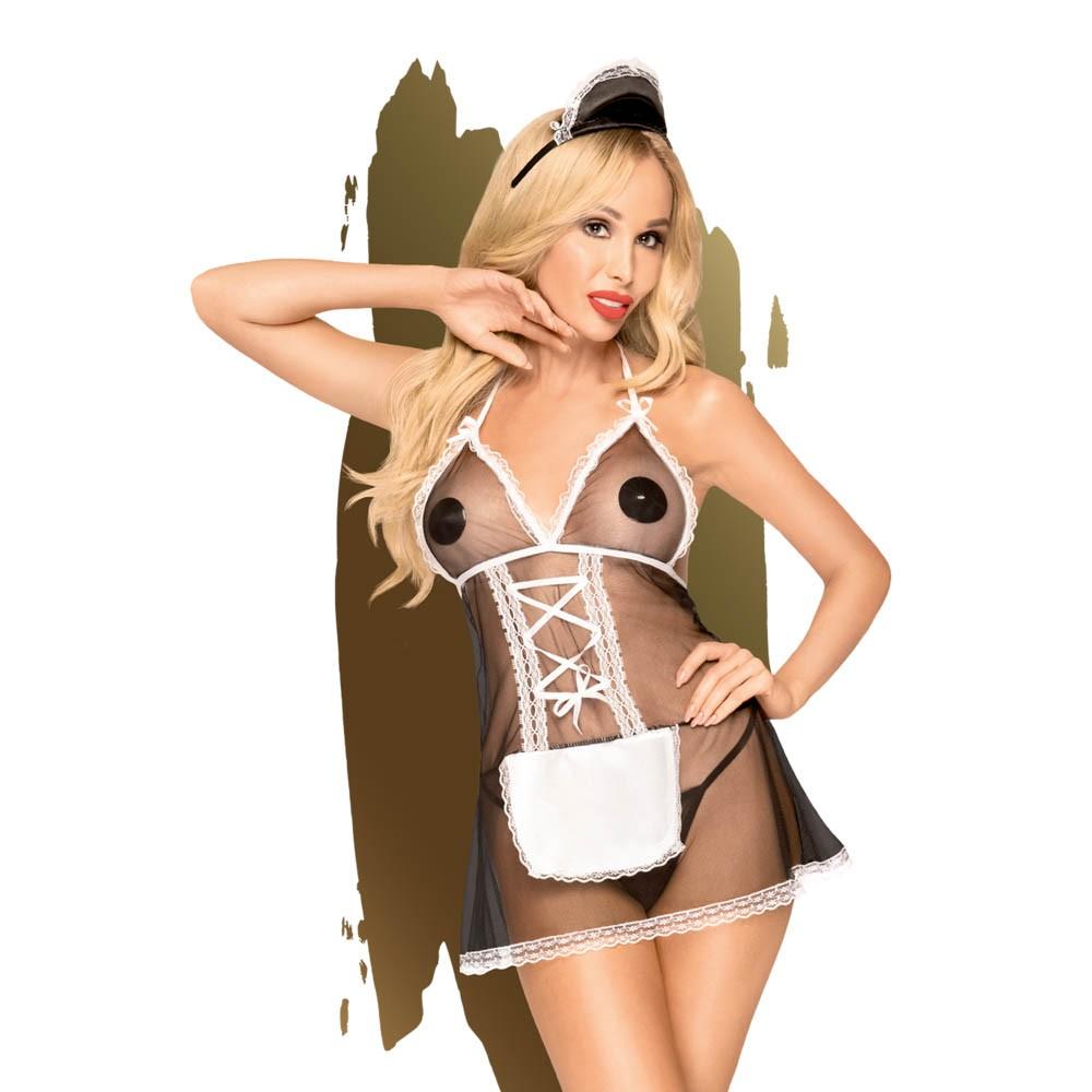 Еротичен костюм от три части, мечтаната прислужница – Teaser S/M