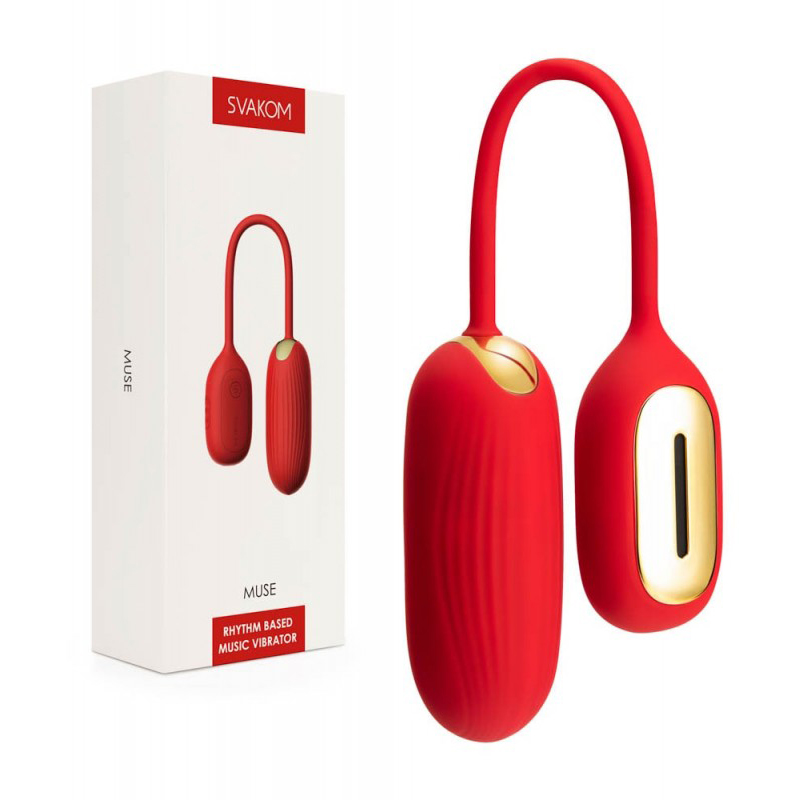 Интелигентно вибриращо яйце, аудио контрол – Muse Red